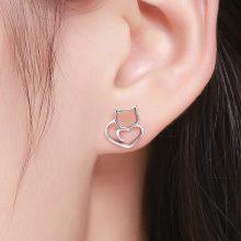 925 Sterling Silver Cute Stud Earrings