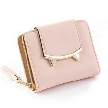 2017 Korean Cute Cat Anime Leather Trifold Slim Mini Wallet Women Small Clutch Female Purse Coin Card Holder Dollar Bag Cuzdan