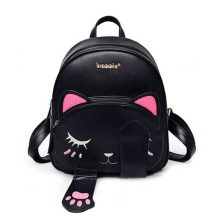 School Backpack with Funny Cats Pattern